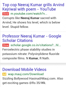 Google Testing A Red  Slow  Label In The Search Results For Slower Sites